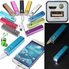 2600mAh LED Power Bank Carica Batteria Esterna USB PER iPhone 6 HTC Samsung HTC