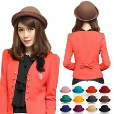 Fashion Lady Vogue Vintage Women's Wool Cute Trendy Bowler Derby Hat 12 Colors