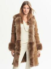 BANANA REPUBLIC WOMEN'S HOODED ITALIAN SHEARLING LEATHER COAT $2250.00 NEW S M L