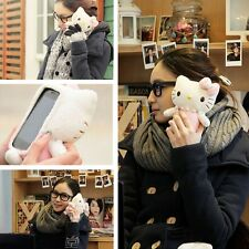 Lovely 3D Cute Hello Kitty Plush Toy Doll Case Cover For Various HTC Cell Phones