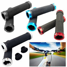 Mountain BMX MTB Road Bicycle Cycle Bike Double Lock on Locking Handlebar Grips