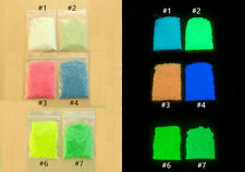 Glow in the dark sand Multi-Color 100g for FISH TANK AQUARIUM ornament AK373