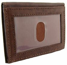 New Paul & Taylor Mens Leather Front Pocket Wallet with Bill Compartment
