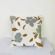 "Cushion Cover""Beige tone Floral ""Thick Linen Cotton Blend ""Custom Made"" YF077-1"