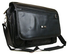 """High Quality Faux Leather 15"""" 17"""" Business Briefcase Laptop Work Carry Case Bag"""