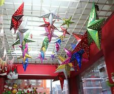 Hot Christmas Decorations Happy Santa Solid Pentagram Home Bar Market Room Decor