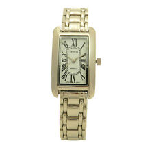 Geneva Stainless Steel  Slender Roman Number Wavy Dial Crystal Women Dress Watch
