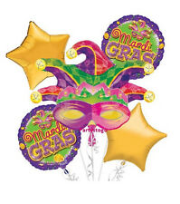MARDI GRAS BIRTHDAY PARTY BALLOONS BOUQUET SUPPLIES DECORATIONS MASQUERADE