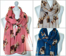 Ladies Scarf Shawl Pug Pugs Dog Dogs Puppy Puppies Oversized Soft High Quality