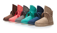 New winter snow boots Korean version of sweet lace boots plus velvet warm boots