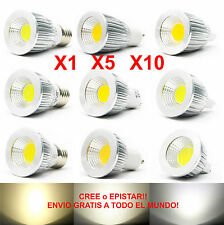 1x 5x 10x Lamparas Led Cob regulable - 6w/9w/12w/15w Brillante - mr16/gu10/e27