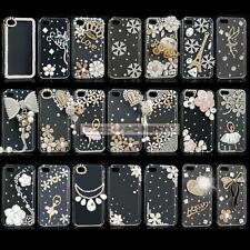 Fashion 3D Rose Crystal Bling Diamond Handmade Case Cover Skin For Apple iPhone