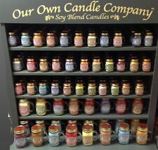 OUR OWN CANDLE COMPANY  - SMALL JAR MASONS - FOOD AND SPICE SCENTED FRAGRANCED