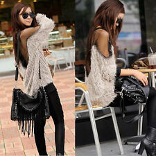 Sexy Womens See-thru Gauze Patchwork Mesh Pullover Jumper T-Shirt Blouse Tops