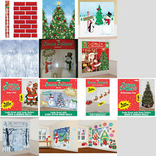 CHRISTMAS ROOM ROLLS SCENE SETTERS ADD ON WALL DECORATION KITS FESTIVE BACKDROP