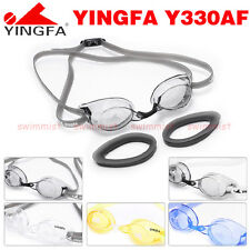 NEW YINGFA Y330AF SWIMMING GOGGLES ANTI-FOG BLACK WHITE YELLOW BLUE  FREE SHIP !