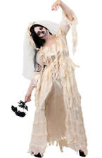 DELUXE GHOST BRIDE COSTUME HALLOWEEN BALLGOWN LADY WOMEN'S HAUNTING FANCY DRESS