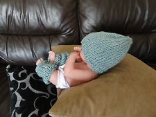 Hand knitted baby hat leg warmers set NWT Pooky Love fashion premature +