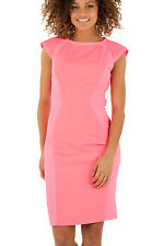 Ted Baker JINEEN Pink Contrasting Bodycon Dress UK 10 14 16 RRP £159 Sold Out