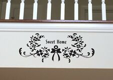"SWEET HOME WALL ART..,  27 1/2"" x 11 1/2"" Black FREE SHIPPING"