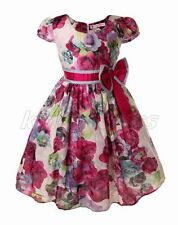Flower Girl Bridesmaid Party Pageant Wedding Dress Multicolor Blue Size 3-8 Z21