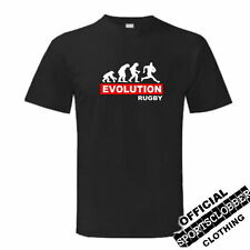 Evolution Rugby T-S Top S-XXL Training Black