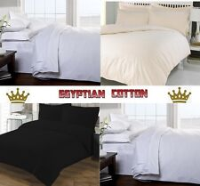 100% EGYPTIAN COTTON 3PC DUVET COVER SET IN SINGLE DOUBLE KING & SUPER KING SIZE