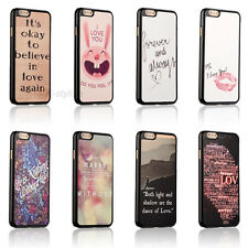 """Love Life Quotes Hard Back Cover Skin Case For Apple iPhone 6 4.7"""" / Plus 5.5"""""""
