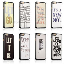 Life Inspirational Quotes Hard Back Cover Skin Case For Apple iphone4 4s 5 5c 5s