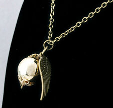 2014 new occident retro fashion Harry Potter snitch gold necklace