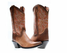 Harley-Davidson Loreley Womens Cowboy Boots Brown Leather Medium Width
