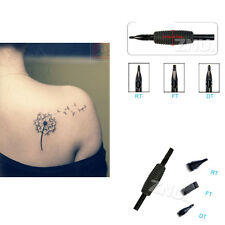 5PCS 19mm Round Tips Tattoo Disposable Tube and 3/4 Silicone Grip & Tip 7 Sizes