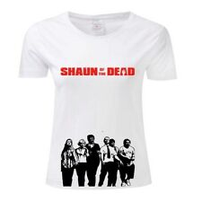 SHAUN OF THE DEAD COMEDY HORROR ZOMBIE MOVIE FILM LADIES GIRLS T SHIRT TOP