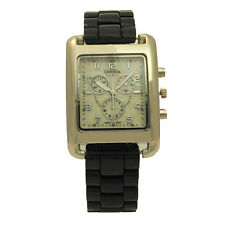 Stainless Steel Plated Rectangular Casual Fashion Black or Silver Unisex Watch