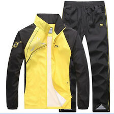 Spring&Autumn Mens Activewear Jogging Suits Jacket Pant tracksuit Athletic Sport