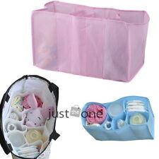 3 Colors 3 Sizes New Baby Diaper Nappy Changing Storage Bag 7 Liner Cell Divider
