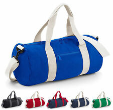 BAGBASE VARSITY BARREL BAG (BG140) 20L COLLEGE SCHOOL GYM DUFFLE