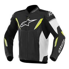 Alpinestars GP-R Leather Mens Perforated Motorcycle Riding Jacket Yellow Black