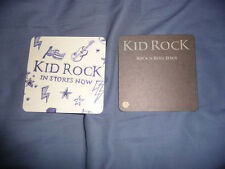 kid rock or buckcherry coaster set of 2 double sided promo cards