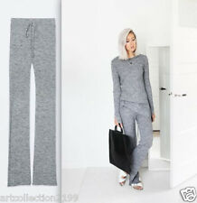 ZARA WOMAN FWIN 2014 2015 collect WOOL RIBBED FLARED TROUSERS S,M REF.3859/810