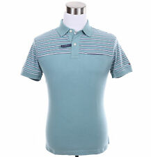 Tommy Hilfiger Men Short Sleeve Stripe Custom Fit Polo Shirt - Free $0 Ship