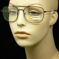 PHOTOCHROMIC TRANSITION PHOTOCHROMATIC SUN GLASSES CLEAR TINT SQUARE AVIATOR M24