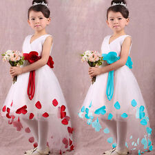 Hot Wedding Applique Pageant dress flower girl Party prom Ball Gown Formal Dress
