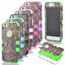 Camo Realtree Heavy Duty High Impact Combo Matte Case Cover For iPhone 6 6S Plus