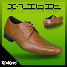 Mens Kickers OSTERB Formal Lace OFFICE WORK Smart  Dress Shoes Tan UK 8 X-Disply