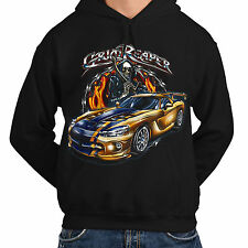 Wellcoda | NEW Grim Reaper Car Graveyard Racer Mens Womens S-5XL Hoodie *kh173