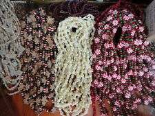 Christmas Garland Wooden - Beads,  Snowflakes