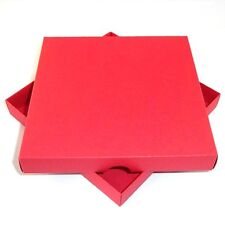 "6"" x 6"" Red Greeting Card Boxes, Gift, Free Delivery. Coloured. Choose Qty"