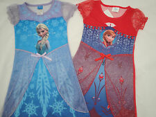 Frozen Elsa Anna Nighty Nightie PJ Pyjamas 3 4 5 6 7 Years NEW UK STOCK