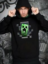 Minecraft Creeper Inside Hoodie Sweatshirt Adult Officially Licensed S-3XL New